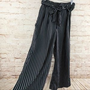 Who What Wear palazzo paper bag pants